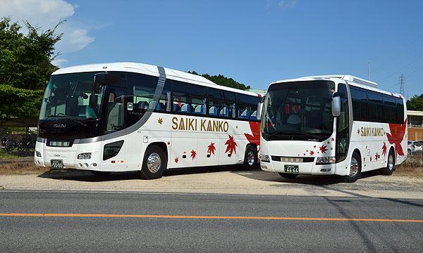 大型バスと中型バス